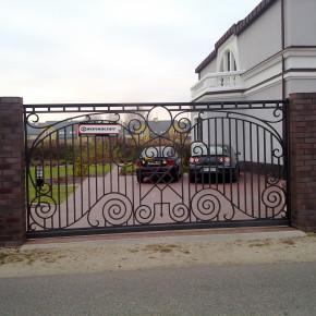 Brama, furtki dom prywatny, Warszawa