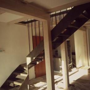 Schody w stylu LOFT, dom prywatny, Wrocław
