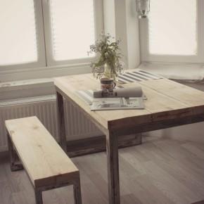 Stół z ławą LOFT- komplet do jadalni