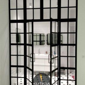 CRITTALL przeszklenie / metal /  drzwi industrialne loft ze szprosami / dom prywatny