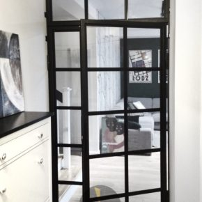 Crittall / przeszklenie typu LOFT / industrial / drzwi szkło z metalowymi szprosami/ dom prywatny, Wrocław