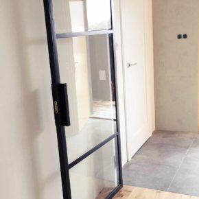 Szklane drzwi LOFT , minimalizm