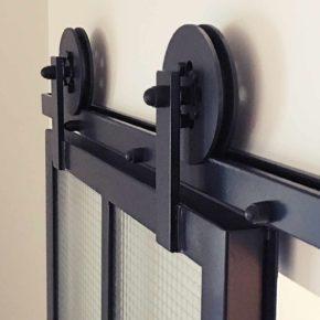 Drzwi przeszklone przesuwne, szkło zbrojone LOFT