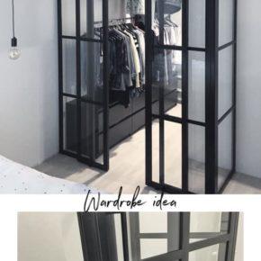 Garderoba przeszklona w stylu LOFT , drzwi przesuwne, Warszawa