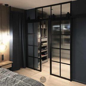BARN door/ drzwi loftowe, szkło zbrojone, garderoba/ drzwi przesuwne